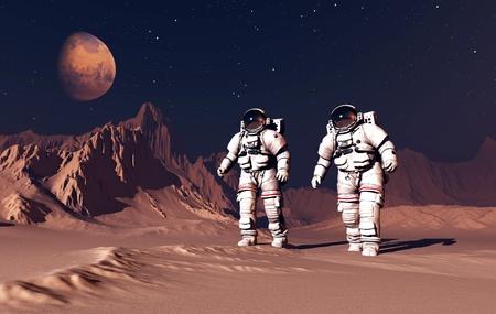 NASA: Two astranavta on the planet.
