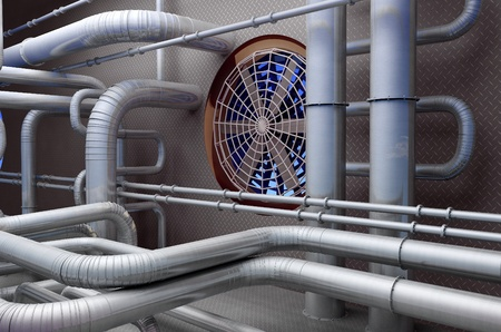 catalytic: The interior of the plant. Stock Photo