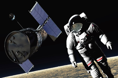 NASA: The astronaut  in outer space