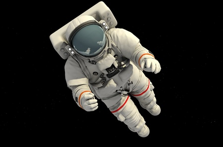 astronaut: The astronaut  in outer space