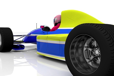 bolide: Racing cars on a white background.