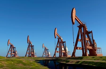 油、風景のための技術。 写真素材
