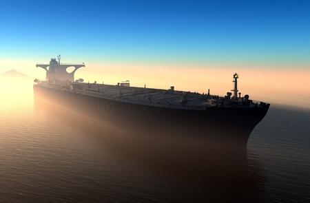 camión cisterna: El barco en el mar