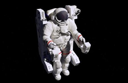 astronauta: Astronauta en el espacio exterior en la silla.