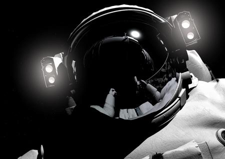 astronauta: El astronauta en el espacio exterior