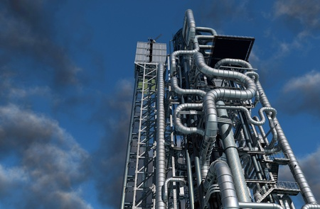 environmen: Tubes of actory in the sky.