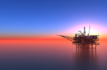 gas plant: Oil production in the sea.