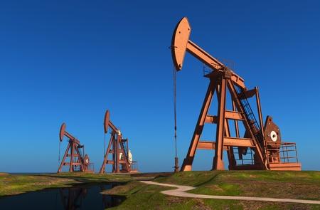 techniek: Techniek voor olie in een landschap.