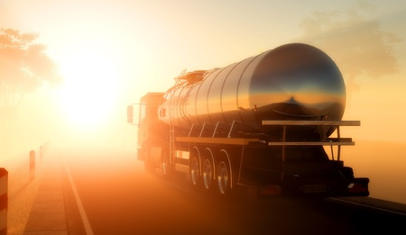 Camion pour transporter du carburant.