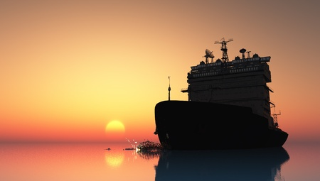 marine industry: The  ship in the sea
