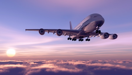 cargo plane: A passenger plane in the sky