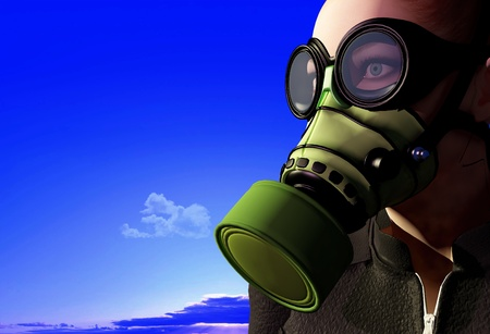 The man in the mask. Stock Photo