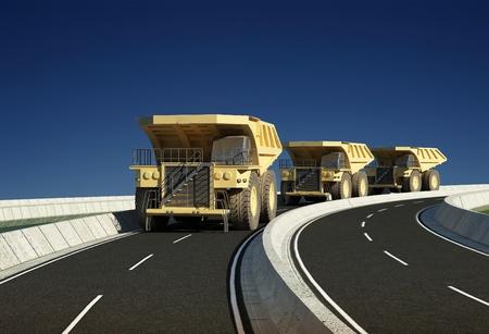 Vehicular traffic on the highway skyline Stock Photo - 20943677