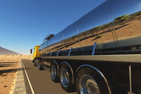 railway track: Truck to transport fuel.