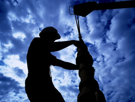 Worker produce oil.