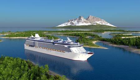 Passagiersschip op de rivier.
