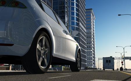 거리에 현대 자동차입니다.