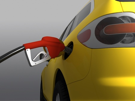 fueled: Car fueled on a gray background.