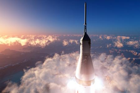 shuttle: De lancering tegen de hemel.