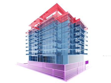 insulate: Graphic representation of building construction.