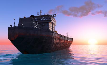 tanker: The  Tanker in the sea    Stock Photo