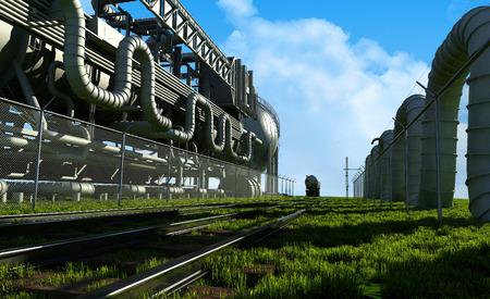 catalytic: Railroad near the plant.
