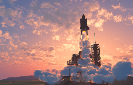 Der Start gegen den Himmel. Standard-Bild - 26935582
