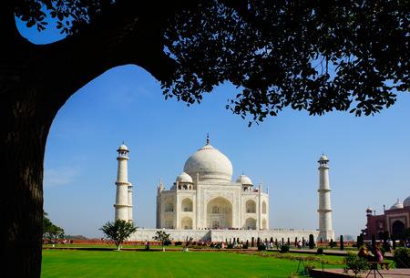 agra: Religion monument Taj Mahal in Agra,India Stock Photo