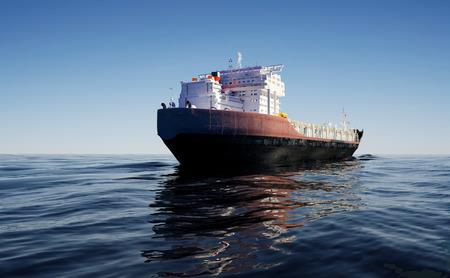 tanker ship: The  Tanker in the sea    Stock Photo