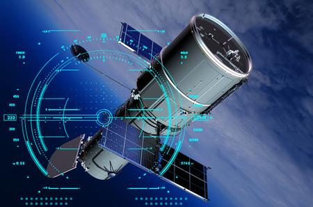 Het ruimteschip in de ruimte