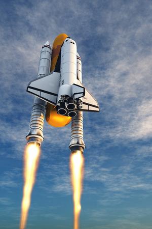 Le lancement sur le ciel. Banque d'images - 32795577