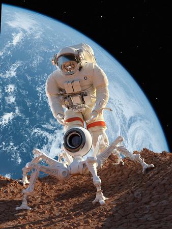 astronaut: Astronauta y robot en el planeta Editorial