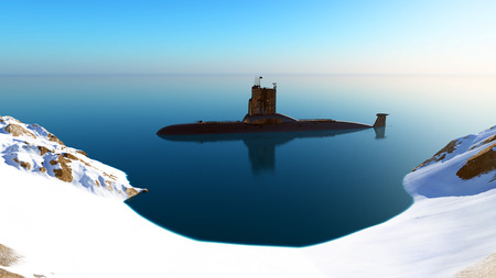 immersion: Submarine near the coast.