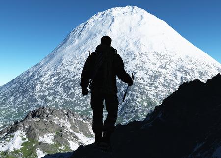 thou: The  man goes shalt thou finish snowy mountains.