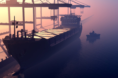 tanker: Tanker trucks at the port.