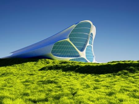 Modern building on  sky