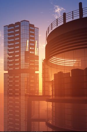 hintergrund himmel: Die modernen Hochhaus auf einem Hintergrund Himmel