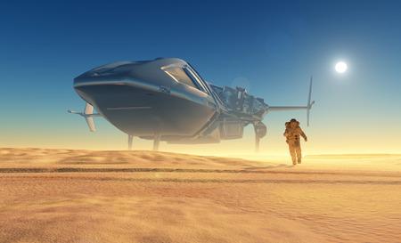 spaceship: Spaceship crashed on the beach.