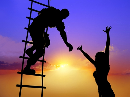 climb: Man saves the girl.