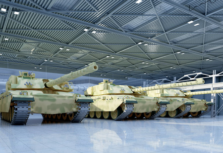 Military vehicle in the garage. Zdjęcie Seryjne - 47197463