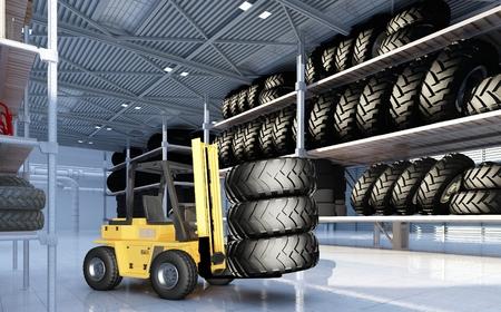 hangar: Truck in  hangar with wheels