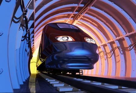 new technologies: New technologies on the railroad. Stock Photo