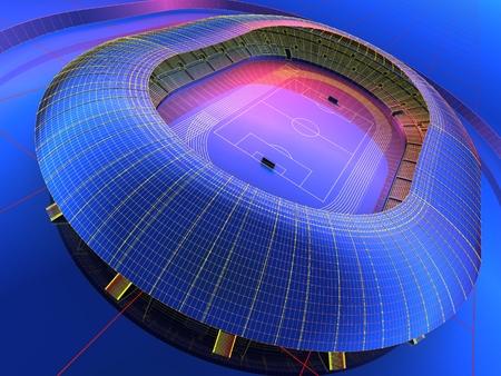 graphic: Graphic image of the stadium. Stock Photo