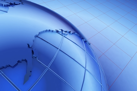 graphical: Graphical representation of the earth model.,3d render