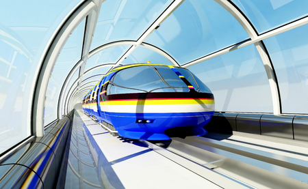 3d render: New technologies on the railroad.l,3d render Stock Photo