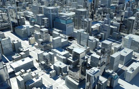 3d render: Top view of the city.,3d render