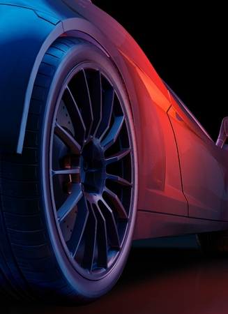 car isolated: Graphic image of car wheels.,3d render