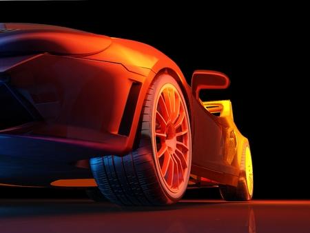 speed car: Model cars on  a black background.,3d render