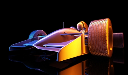 speed car: Racing cars on a black background. ,3d render Stock Photo