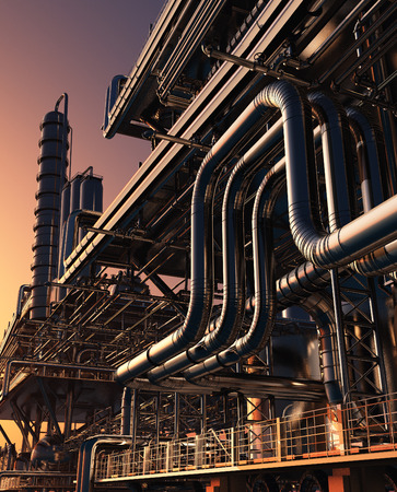 Exterior of the plant. 3d render
